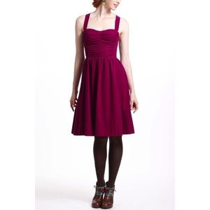 HD in Paris Paca Purple Corduroy Halter Dress